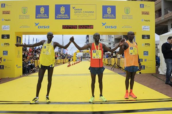 Ganadores masculinos de la modalidad reina, los 42 kilómetros. / CANARIAS 7