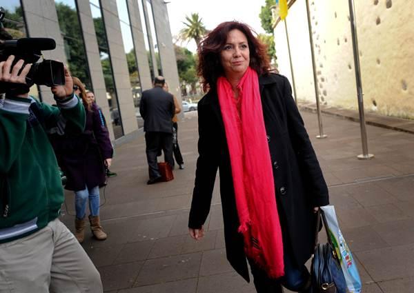 María José Castañeda declaró ante el juez, pero no ante la prensa.   F. P.