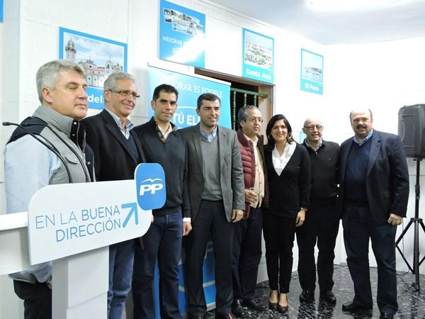 Toda la cúpula insular del Partido Popular respaldó a Juan Miguel Olivera. /  NORCHI