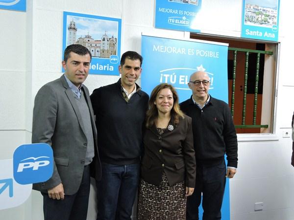 Domínguez agradeció el trabajo en Güímar y Arafo, así como el de Juani Cabrera e Inmaculada Martín. / NORCHI