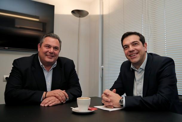Panos Kamenos y Alexis Tsipras
