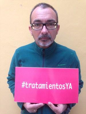 Raúl Cordero lleva meses esperando para ser tratado con el Sovaldi. / DA