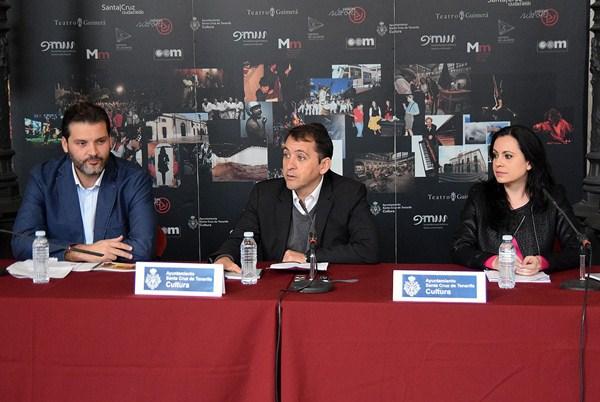 José Ángel Martín, José Manuel Bermúdez y Clara Segura presentaron ayer el balance del OAC. / DA