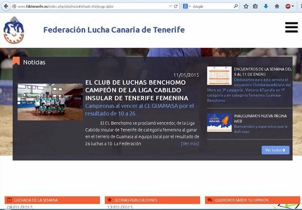 Web Federacion de Lucha Canaria de Tenerife