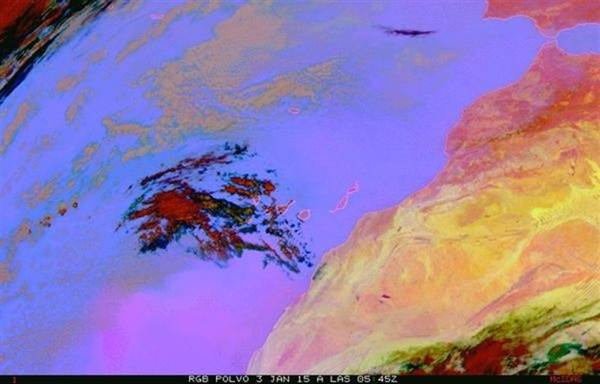 Mapa del calima en Canarias.   EP