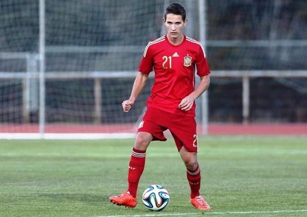 Jorge se enfrentó el martes a Catar, estrenando internacionalidad con España. / EIBAN RUBIO (SEFUTBOL.ES)