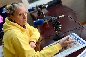 Diana Sánchez visitó ayer Teide Radio. / SERGIO MÉNDEZ