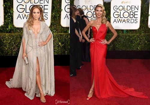 Jennifer Lopez y Heidi Klum volvieron a brillar ante los flash de los fotógrafos en los Globos de Oro. / DA