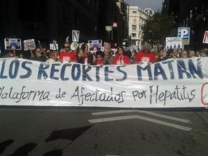La plataforma estatal de afectados por la enfermedad ha realizado numerosas acciones de protesta. / DA