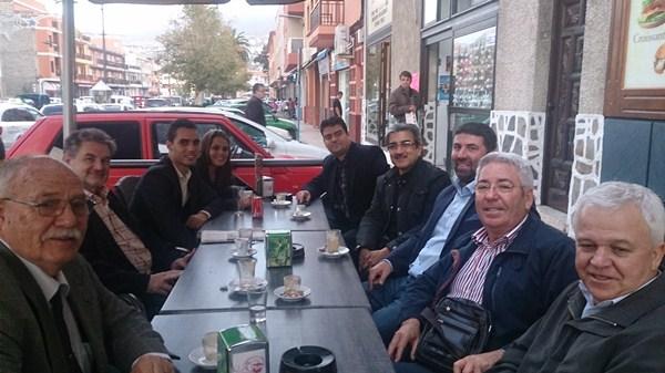 Representantes de NC se desplazaron a Santa Úrsula para celebrar una reunión insular en la sede de ADS. / DA