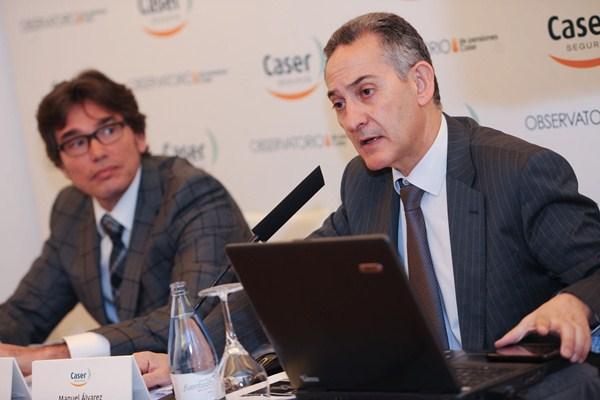 Manuel Álvarez y Gerardo García, en la rueda de prensa. / FRAN PALLERO