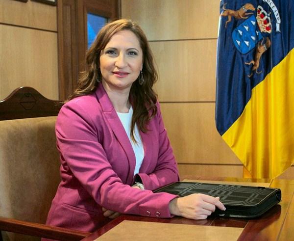 Nazaret Díaz, portavoz y candidata de Coalición Canaria a la Alcaldía de Candelaria. / DA