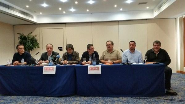 """Representantes de la denominada """"mayoría democrática"""" de CC.OO.-Canarias. / DA"""