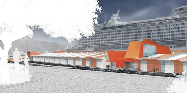 La estación de cruceros tendrá capacidad para 4.000 pasajeros y se levantará en muelle de Ribera de la Dársena de Anaga. / DA
