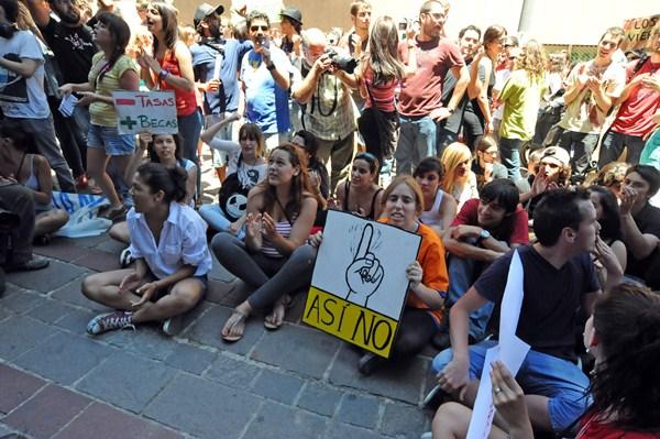 Los estudiantes volverán a salir a la calle este mes para protestar. / DA