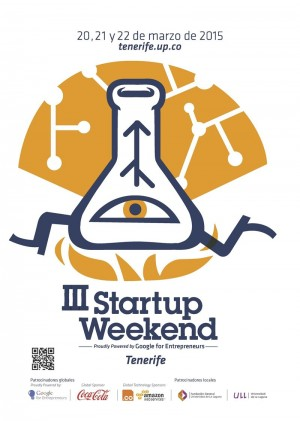 Cartel del III Startup Weekend Tenerife. | DA
