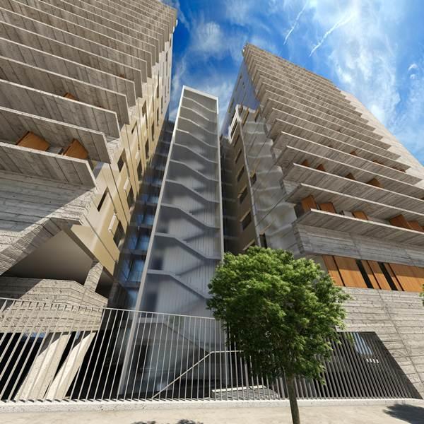 Infografías de los nuevos edificios que se construirán para sustituir a la actual barriada de La Candelaria, de la capital tinerfeña. | DA