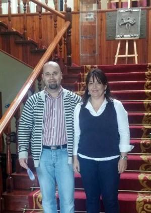 Javier Melián y Raquel García presentaron ayer su renuncia al acta de concejal. | DA