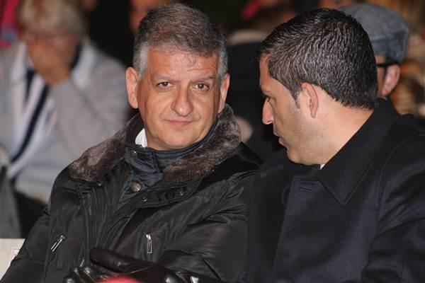 Foto de archivo de Linares, con el presidente insular del PP, Manuel Domínguez, en un acto público. | DA