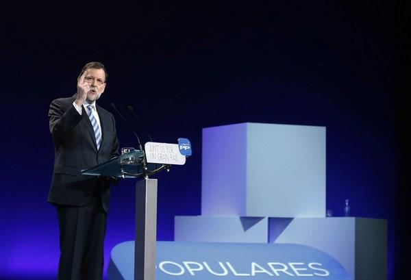El presidente del Gobierno, Mariano Rajoy, durante la reciente convención nacional del PP. / REUTERS