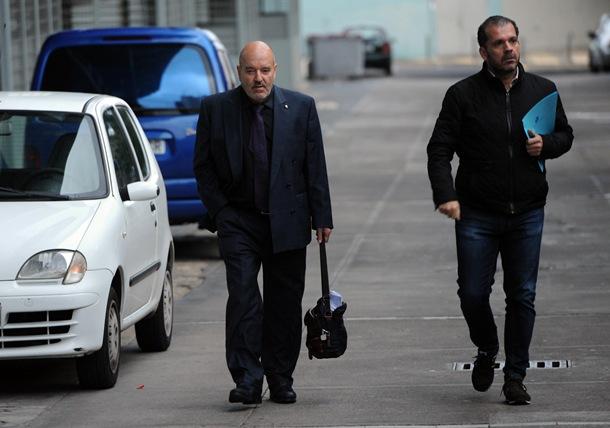 Miguel Concepción a su llegada al Estadio. | FRAN PALLERO