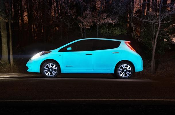 Nissan LEAF brilla oscuridad 1
