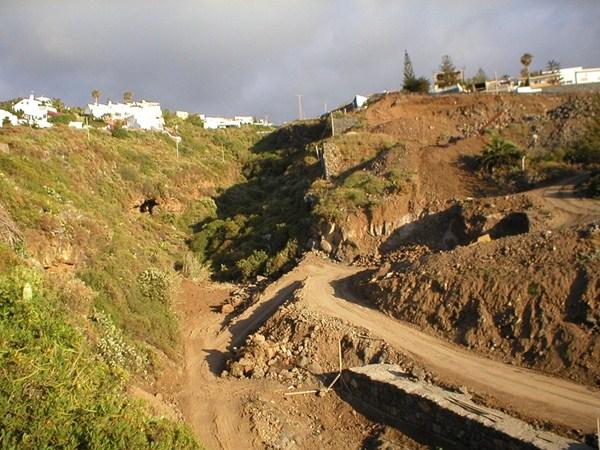 Imagen divulgada por ATAN sobre el impacto de unas obras. / DA
