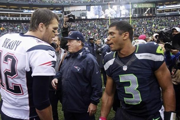 Tom Brady y Russell Wilson