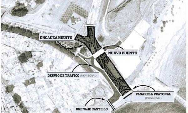 La obra del barranco del Cercado alejará más el cauce de San Andrés