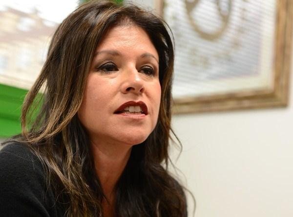 La consejera, Delia Herrera, durante la entrevista. / SERGIO MÉNDEZ