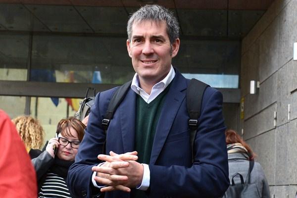 Clavijo, a su salida del Juzgado, cuando declaró en enero. / SERGIO MÉNDEZ