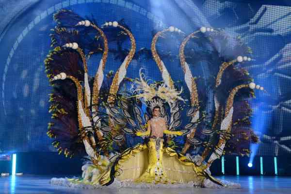 Alba Suárez Montesinos con la fantasía 'Inspiración', un diseño de Miguel Ángel Castilla y Miguel Cruz en representación de Depilación Láser Canarias. | S.M.