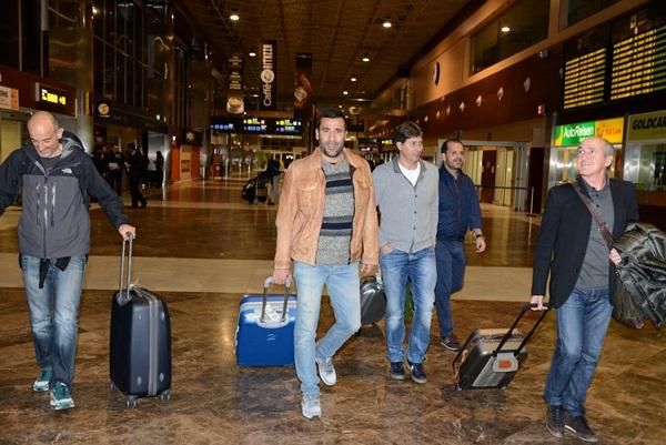 El entrenador llega a la Isla / SERGIO MÉNDEZ