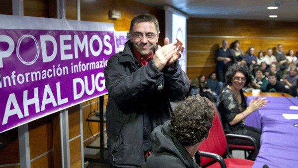 Juan Carlos Monedero, en un acto de Podemos. / EP