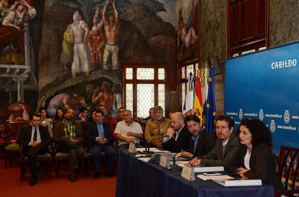La exportación del manual fue dada a conocer ayer en rueda de prensa en el Palacio insular. / DA