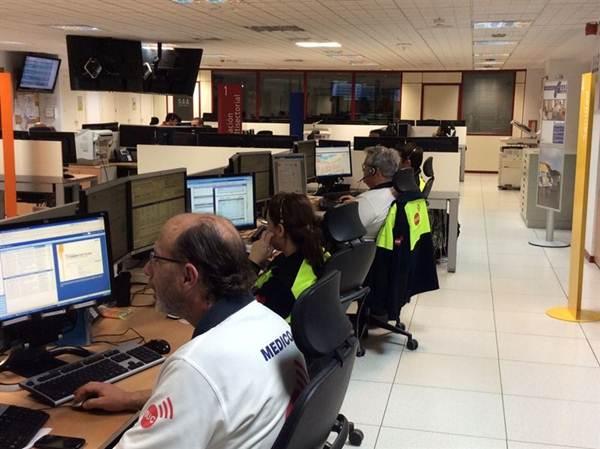 Sala operativa del Cecoes 1-1-2. | DA
