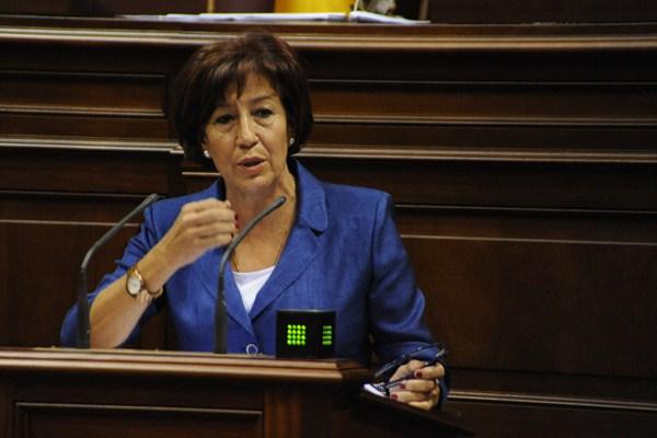 La consejera Inés Rojas reconoció abiertamente que la situación en Canarias todavía es muy complicada. / DA