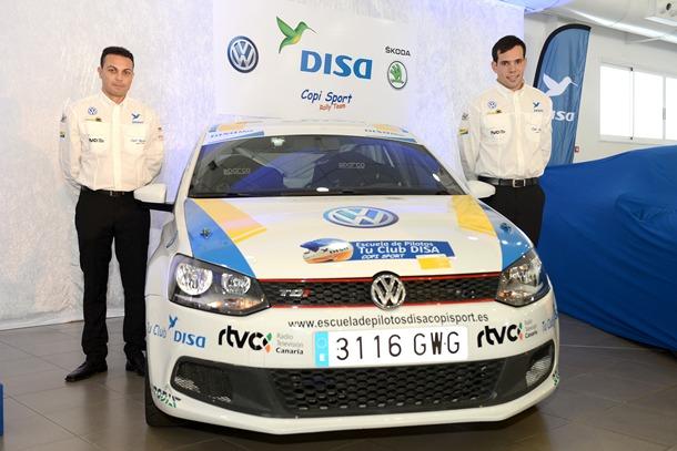 Daniel Santana, ganador de la Escuela de Pilotos DISA Copi Sport, correrá con el VW Polo TDI. | S.MÉNDEZ