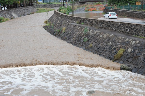 La primera fase para el encauzamiento del barranco del Cercado, en San Andrés, la realizará el Cabildo. / S. M.