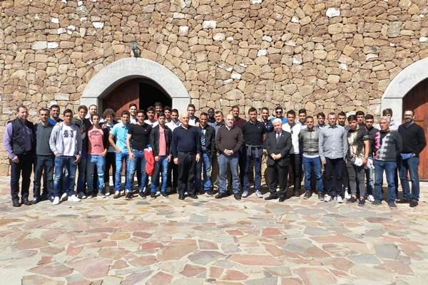 La Finca Parque Los Olivos en Arico fue el escenario del agasajo de los consejeros a los integrantes del plantel del representativo. | CD TENERIFE