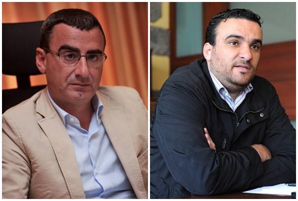 Javier Abreu y Domingo Galván. / DA