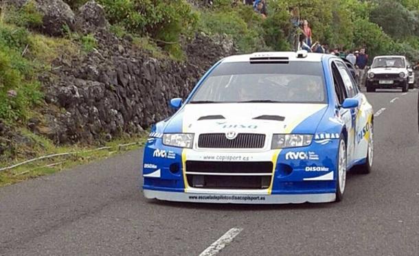 Alfonso Viera Skoda Fabia WRC Subida a El Tanque