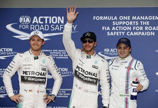 Australia GP Hamilton Rosberg y Massa