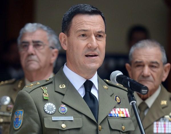 El general de Brigada Ciprés Palacín. / S. MÉNDEZ