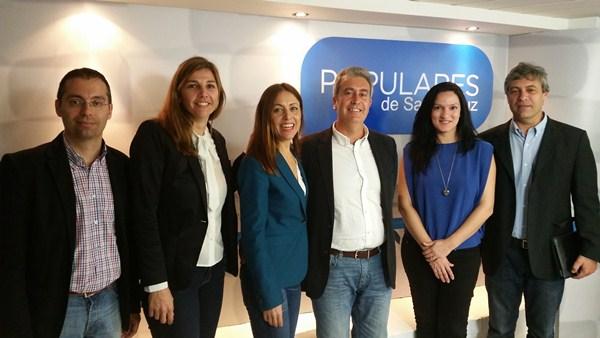 Yolanda Moliné, Cristina Tavío, Óscar García, Zaida González y Carlos Garcinuño, ayer en rueda de prensa./ DA