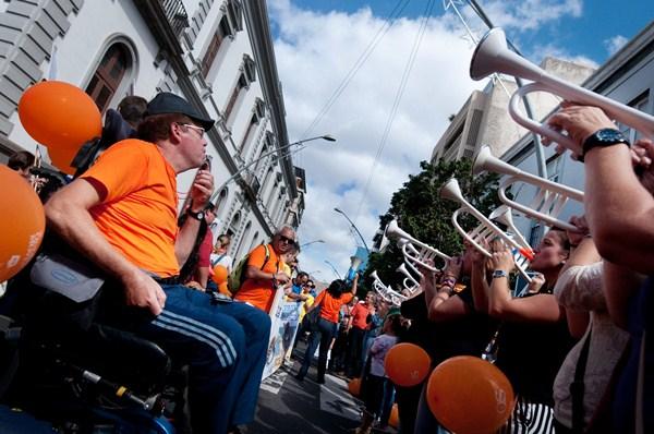 Visibilizar la discapacidad es una de las luchas del colectivo. / FRAN PALLERO