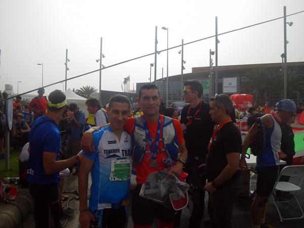 José Manuel León y David Lutzardo bordaron una carrera de mucha exigencia física. Compartieron juntos el trayecto hasta Tejeda y lograron imponerse a muchos de los favoritos al título. / alberto cardona y Miguel Rodríguez