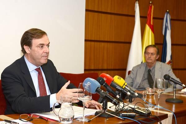 José Ramón Navarro durante la inauguración. |