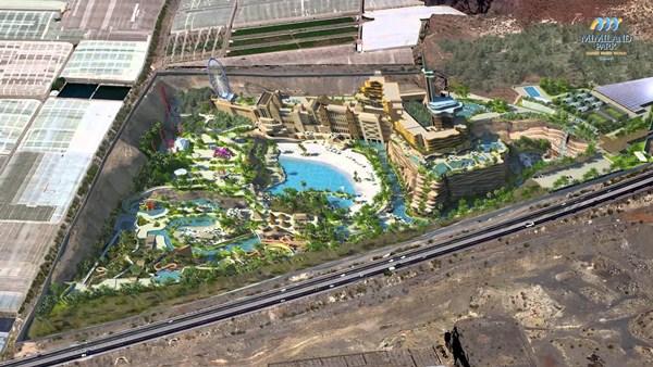 Fotomontaje de lo que sería el Mimiland Park, en la cantera de Fulgencio Díaz. / DA