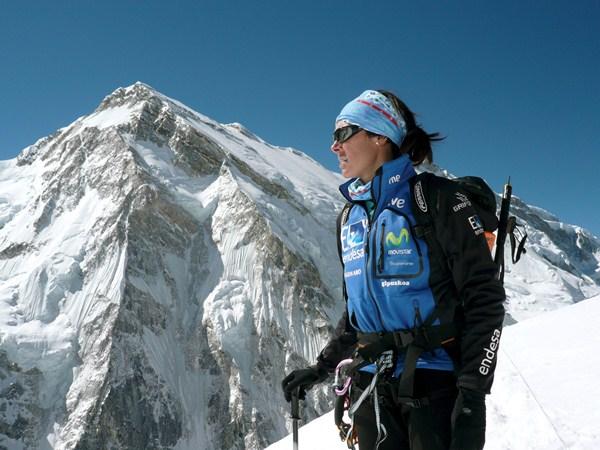 Edurne Pasaban, primera mujer capaz de alcanzar los 14 ochomiles del planeta. / CEDIDA